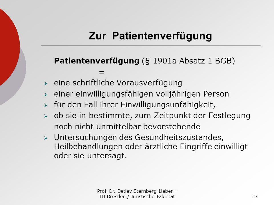 Zur Patientenverfügung