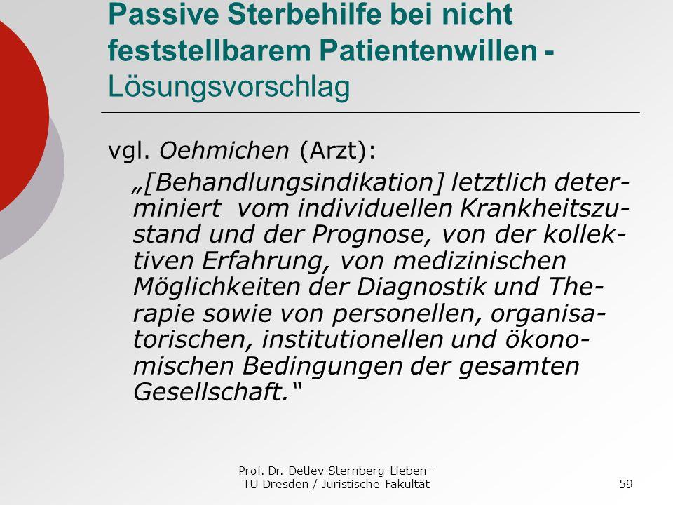 Prof. Dr. Detlev Sternberg-Lieben - TU Dresden / Juristische Fakultät