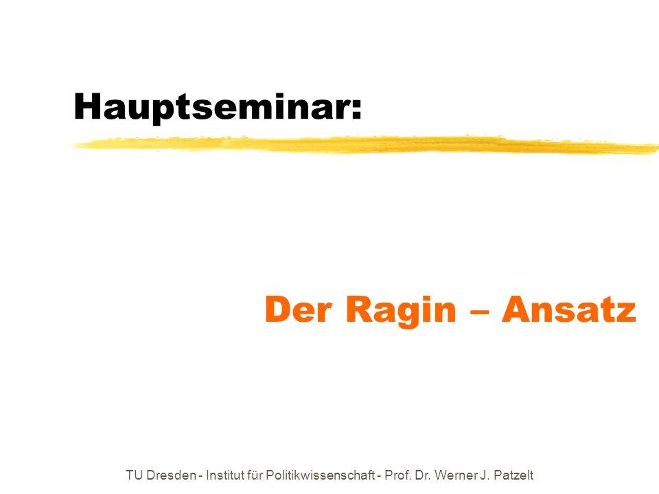 Hauptseminar: Der Ragin – Ansatz