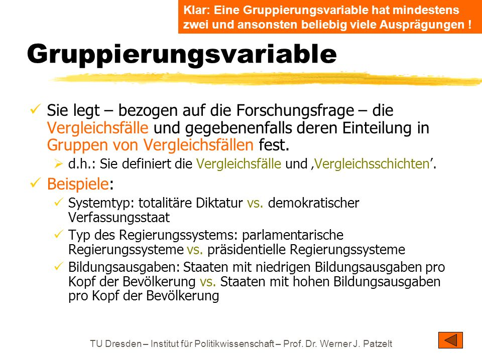 Gruppierungsvariable