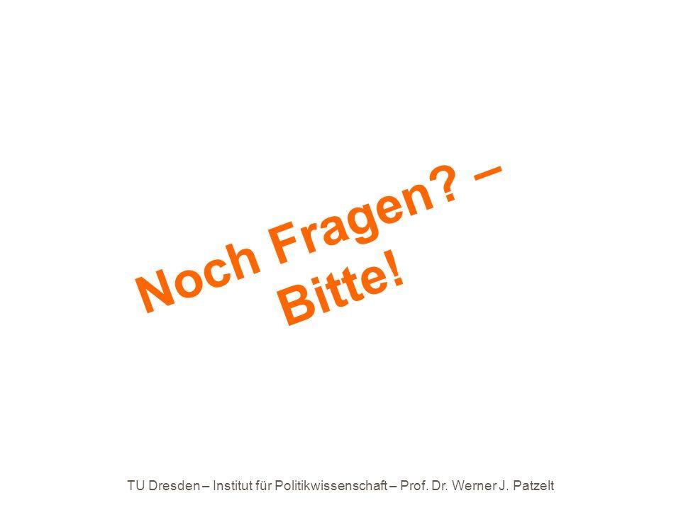 Noch Fragen – Bitte! TU Dresden – Institut für Politikwissenschaft – Prof. Dr. Werner J. Patzelt