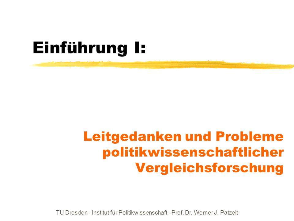 Einführung I: Leitgedanken und Probleme politikwissenschaftlicher Vergleichsforschung.
