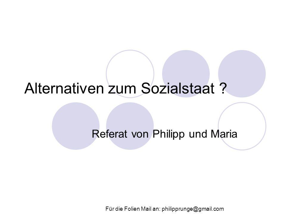 Alternativen zum Sozialstaat