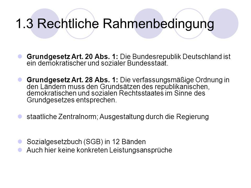 1.3 Rechtliche Rahmenbedingung