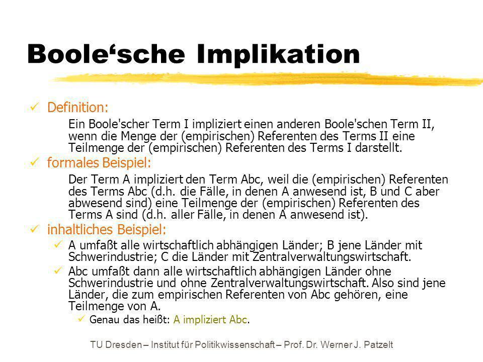 Boole'sche Implikation
