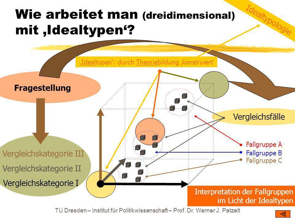 Wie arbeitet man (dreidimensional) mit 'Idealtypen'