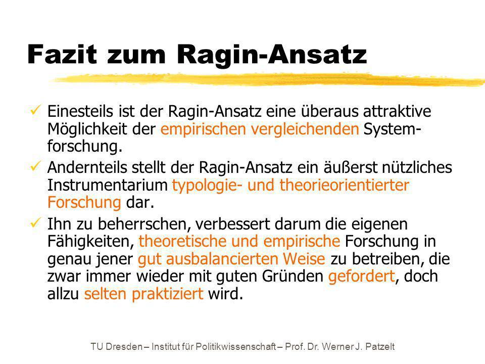 Fazit zum Ragin-Ansatz