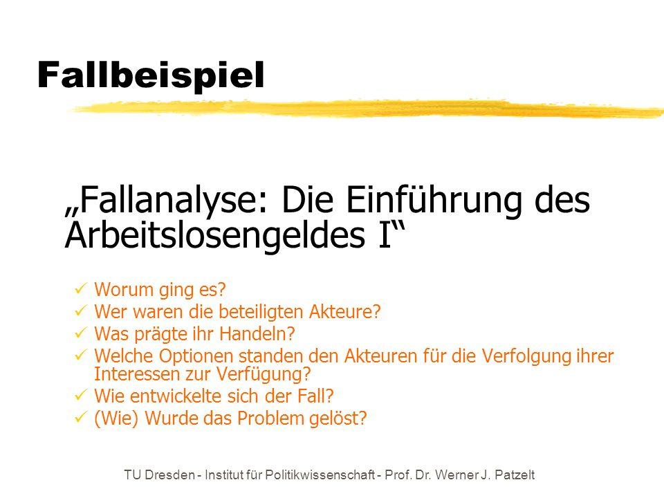 """""""Fallanalyse: Die Einführung des Arbeitslosengeldes I"""