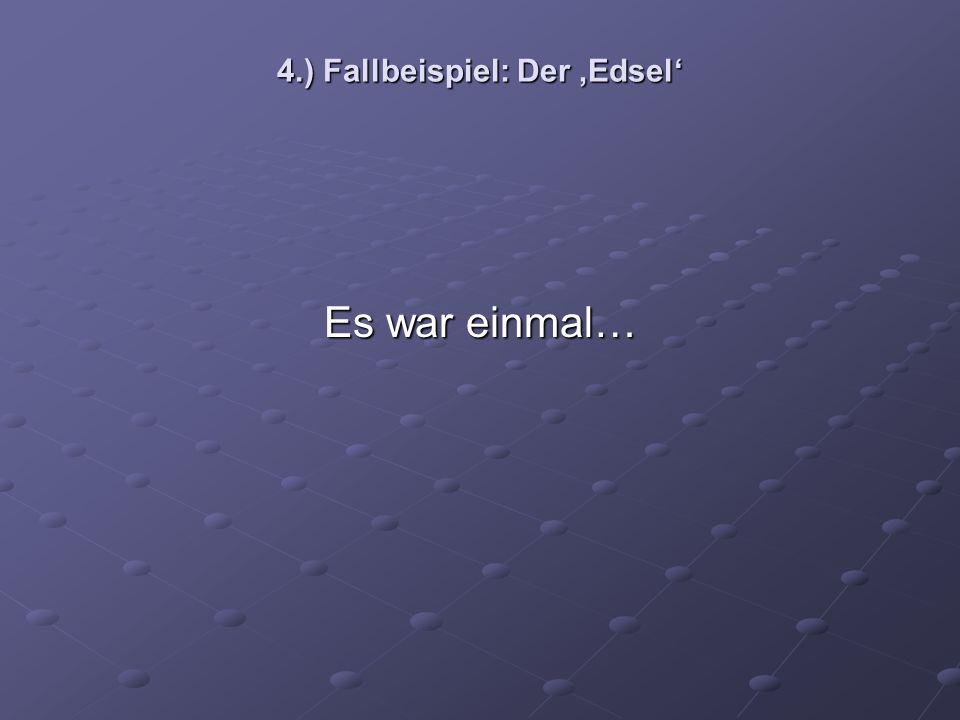 4.) Fallbeispiel: Der 'Edsel'