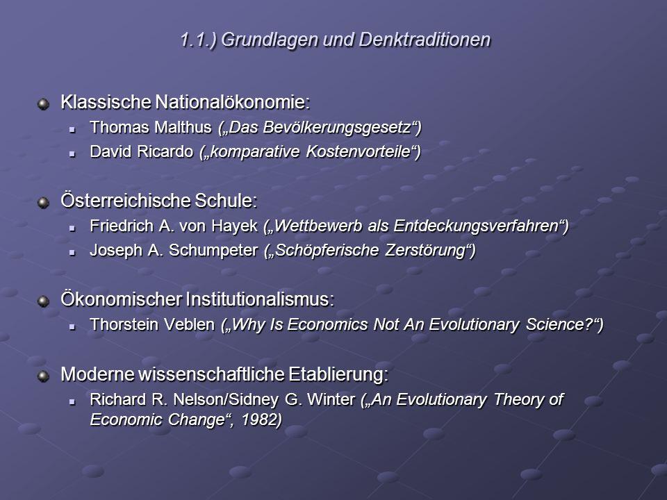 1.1.) Grundlagen und Denktraditionen