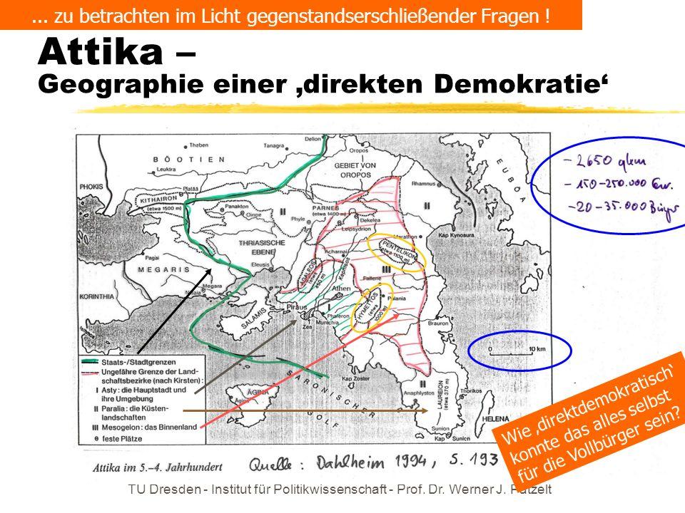 Attika – Geographie einer 'direkten Demokratie'