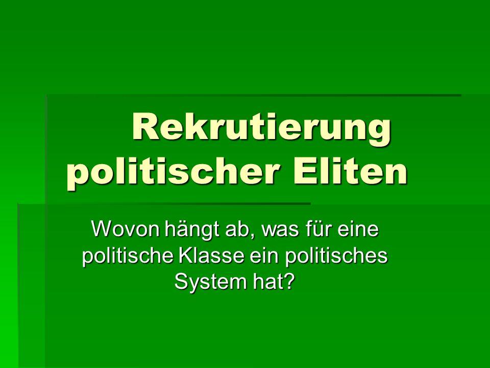 Rekrutierung politischer Eliten