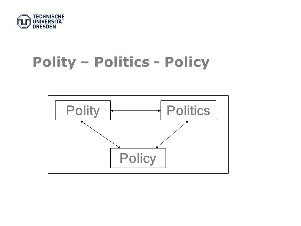 Polity – Politics - Policy