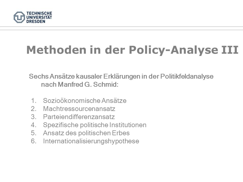 Methoden in der Policy-Analyse III