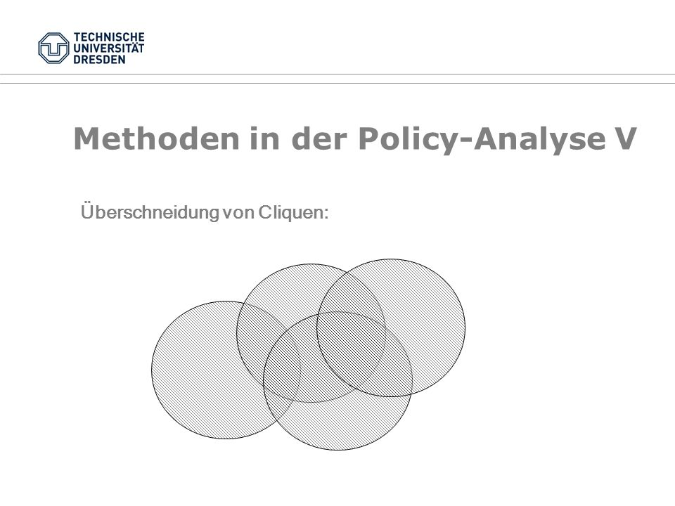 Methoden in der Policy-Analyse V