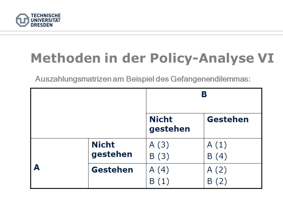 Methoden in der Policy-Analyse VI