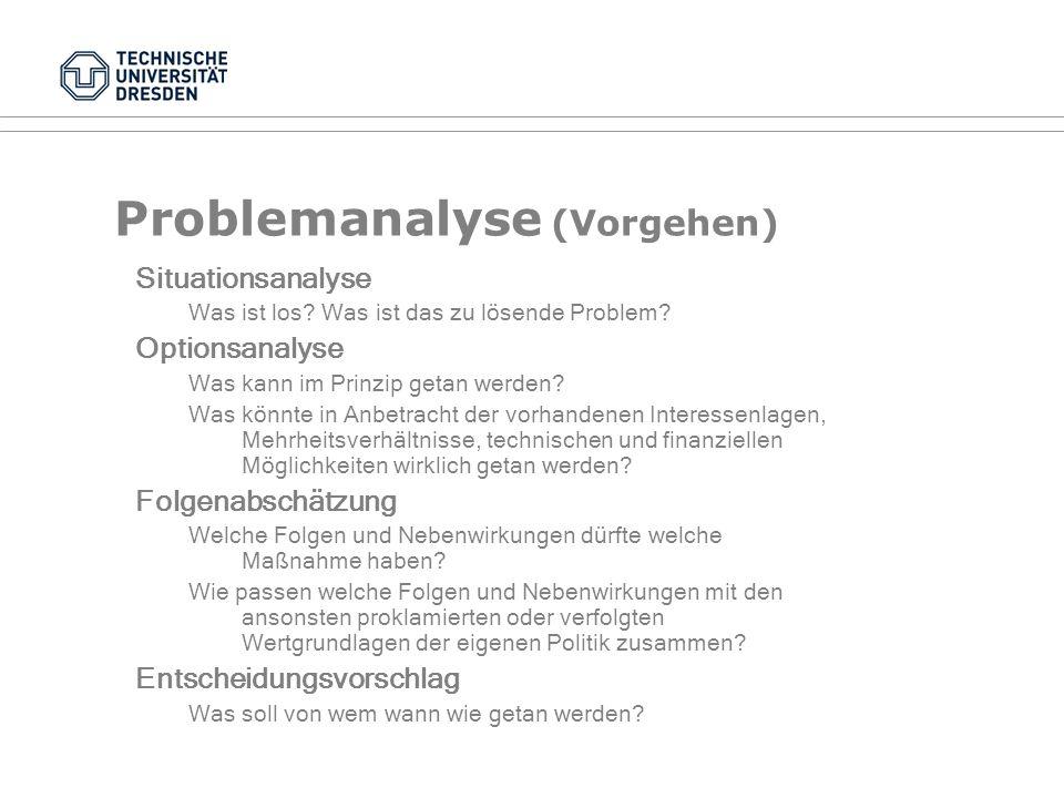 Problemanalyse (Vorgehen)