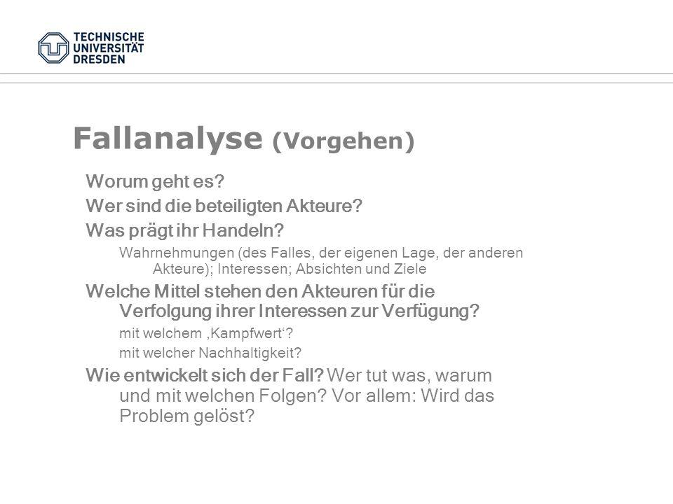 Fallanalyse (Vorgehen)