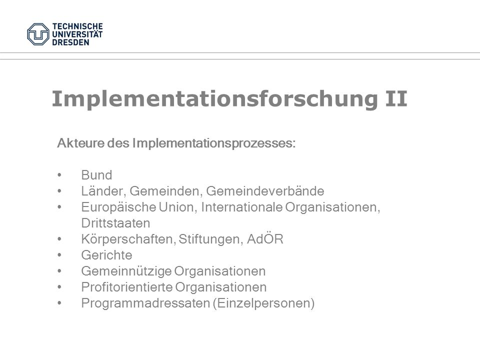 Implementationsforschung II