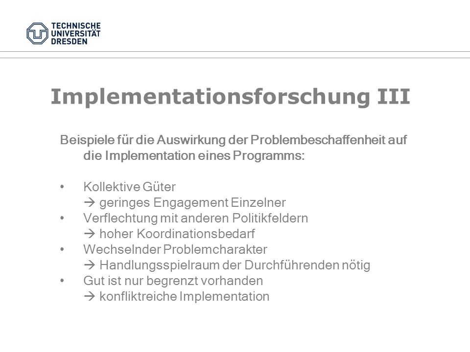 Implementationsforschung III