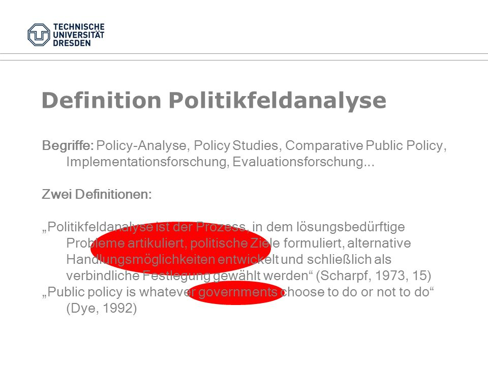 Definition Politikfeldanalyse