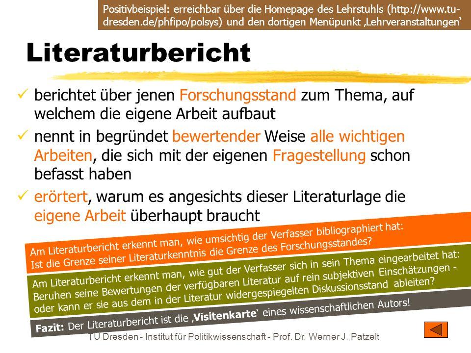Positivbeispiel: erreichbar über die Homepage des Lehrstuhls (http://www.tu-dresden.de/phfipo/polsys) und den dortigen Menüpunkt 'Lehrveranstaltungen'