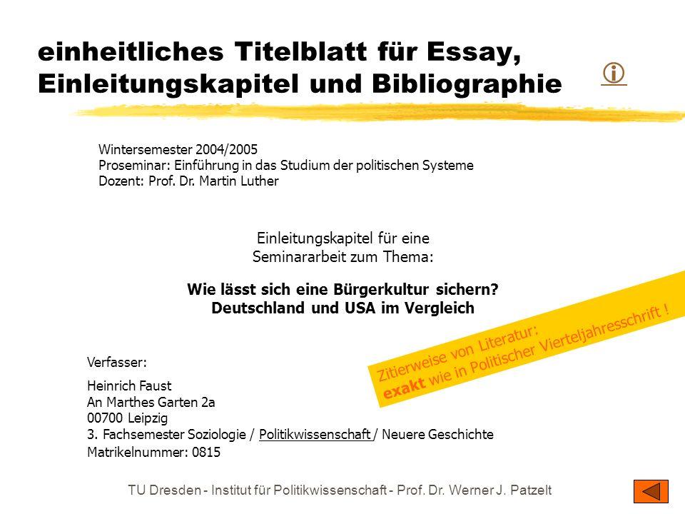 Einleitungskapitel für eine Seminararbeit zum Thema: