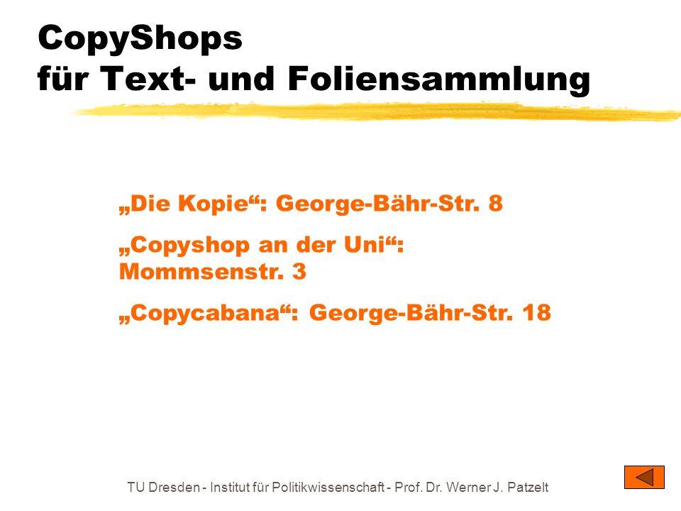 CopyShops für Text- und Foliensammlung