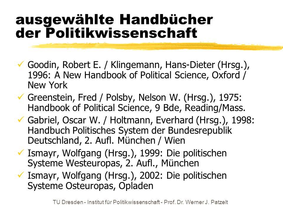 ausgewählte Handbücher der Politikwissenschaft