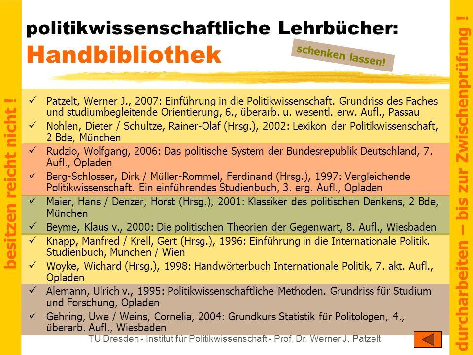 politikwissenschaftliche Lehrbücher: Handbibliothek