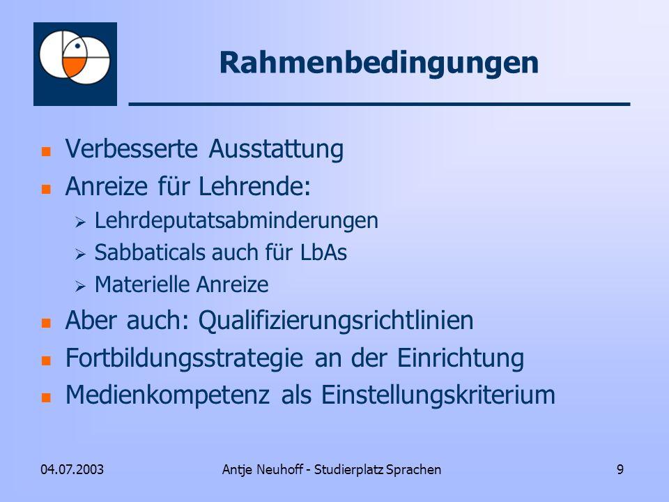 Antje Neuhoff - Studierplatz Sprachen