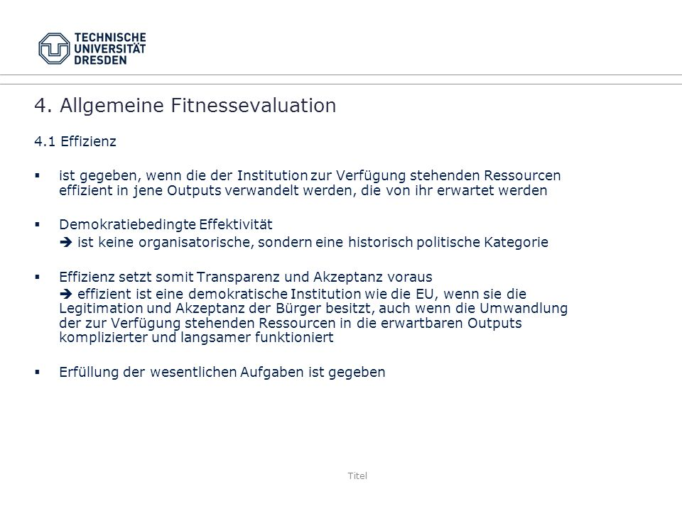 4. Allgemeine Fitnessevaluation