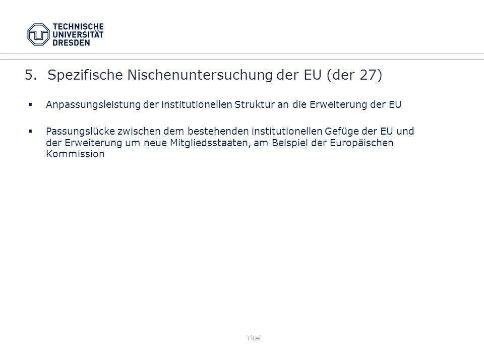 5. Spezifische Nischenuntersuchung der EU (der 27)