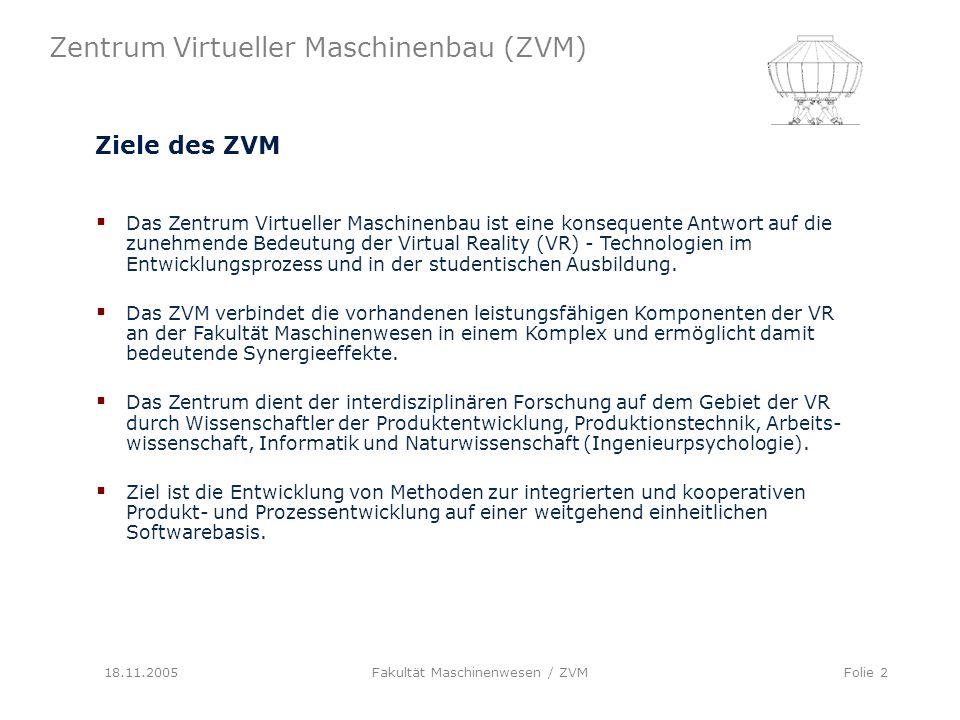 Fakultät Maschinenwesen / ZVM