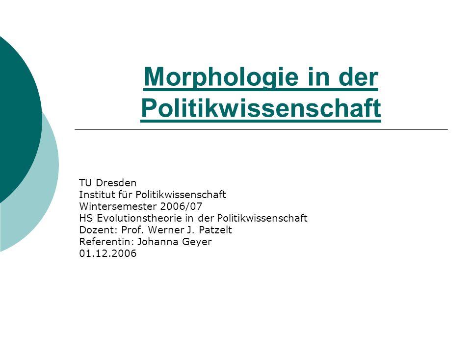Morphologie in der Politikwissenschaft
