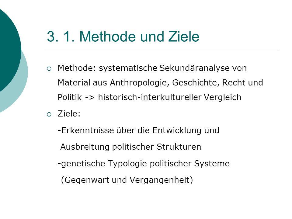 3. 1. Methode und Ziele