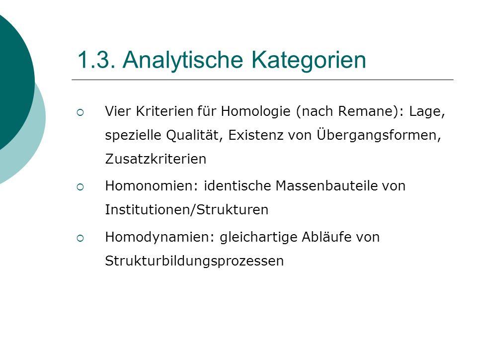 1.3. Analytische Kategorien