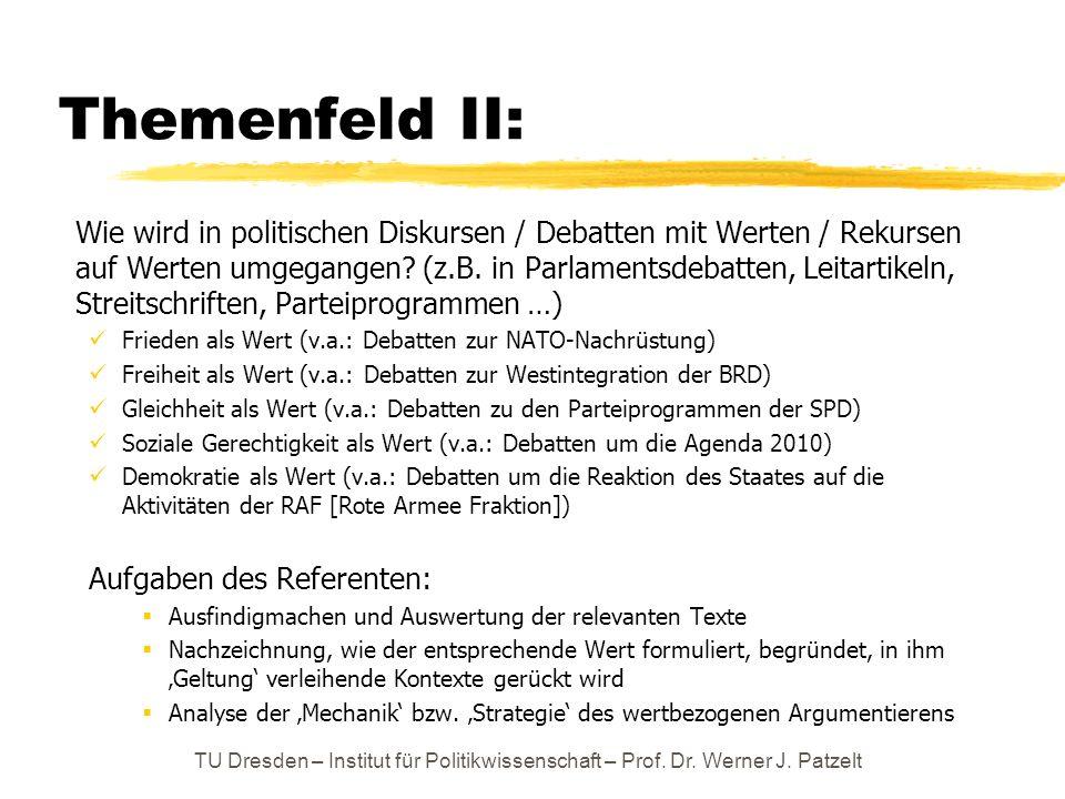 Themenfeld II: