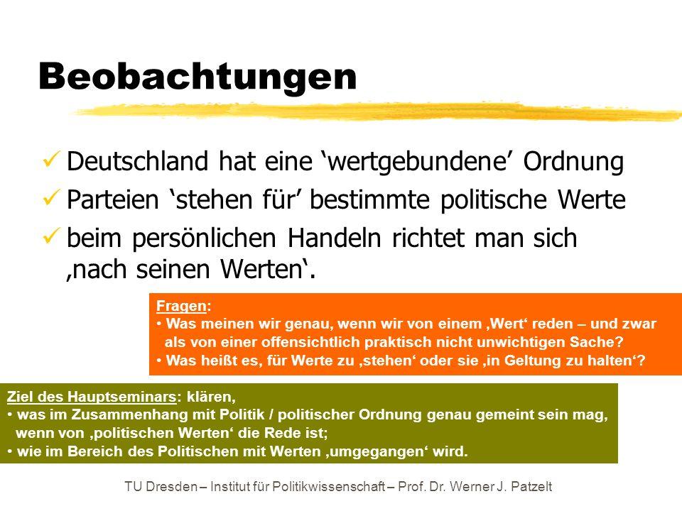 Beobachtungen Deutschland hat eine 'wertgebundene' Ordnung