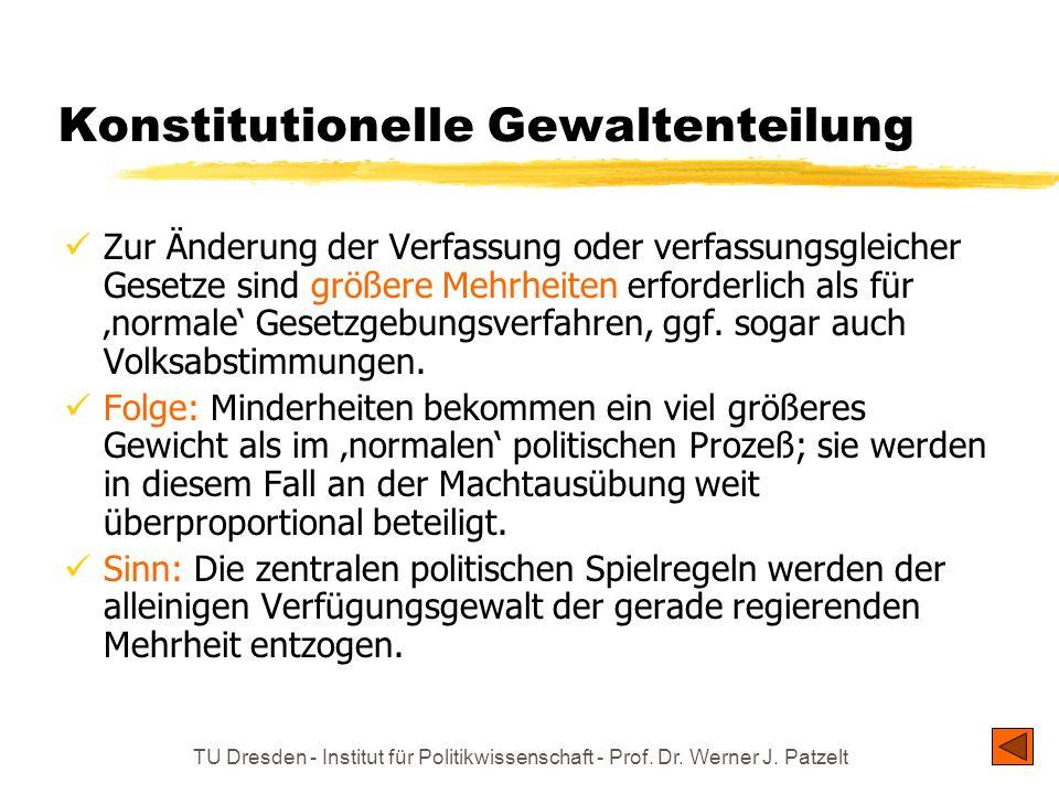 Konstitutionelle Gewaltenteilung