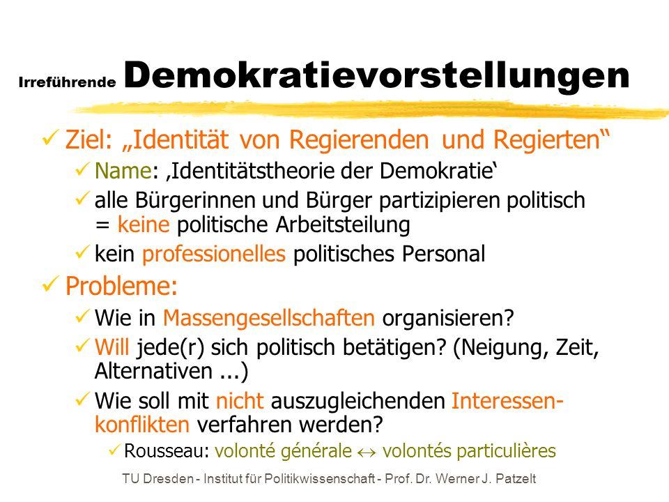 Irreführende Demokratievorstellungen