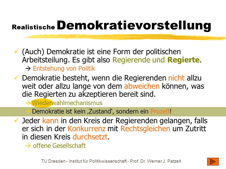 Realistische Demokratievorstellung