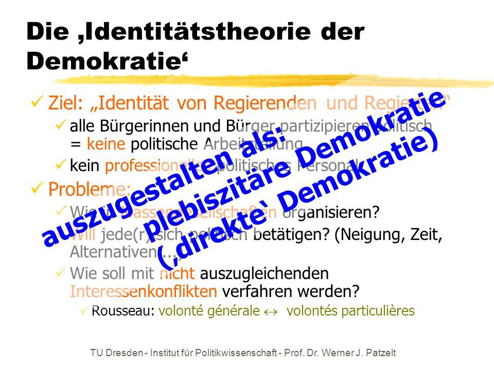 Die 'Identitätstheorie der Demokratie'