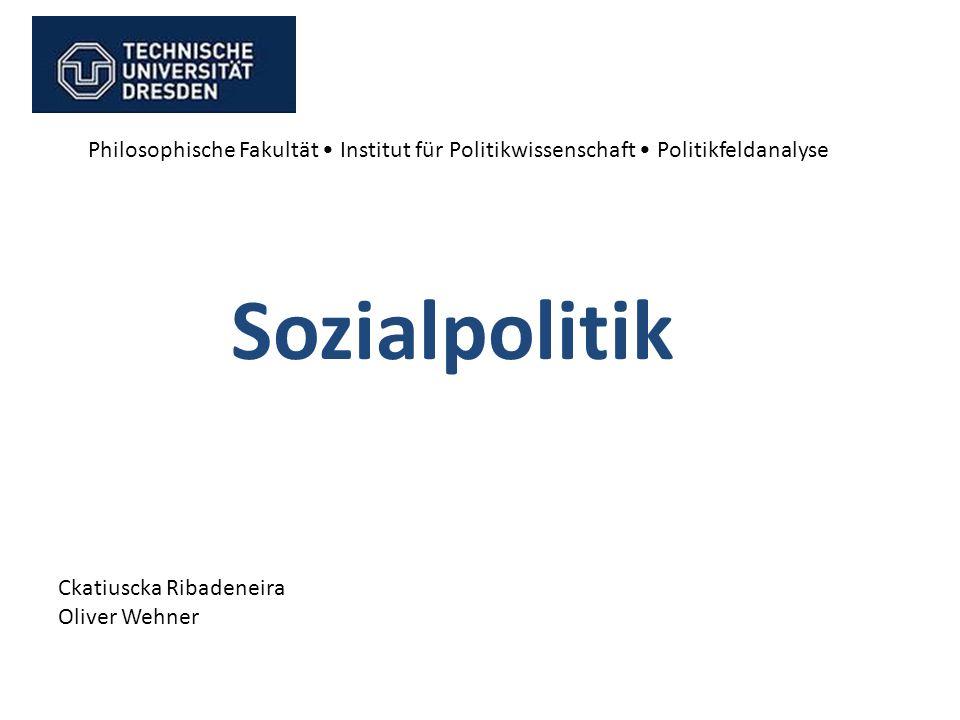 Philosophische Fakultät • Institut für Politikwissenschaft • Politikfeldanalyse