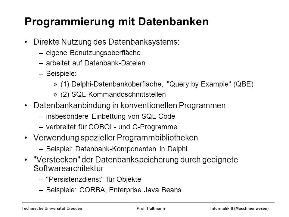 Programmierung mit Datenbanken