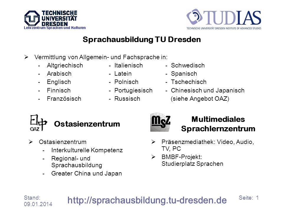 Sprachausbildung TU Dresden