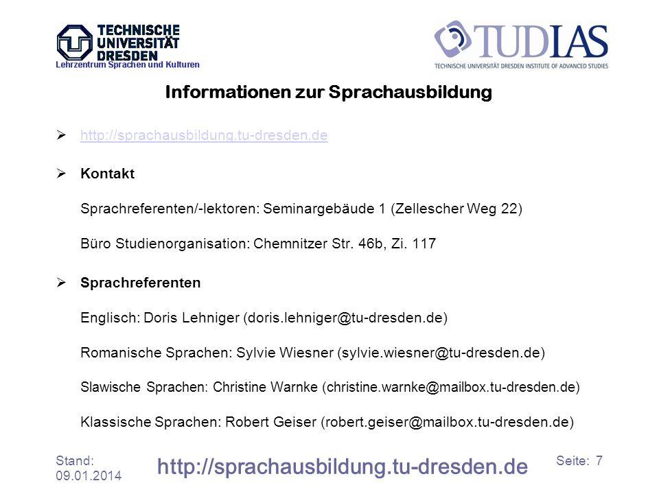 Informationen zur Sprachausbildung