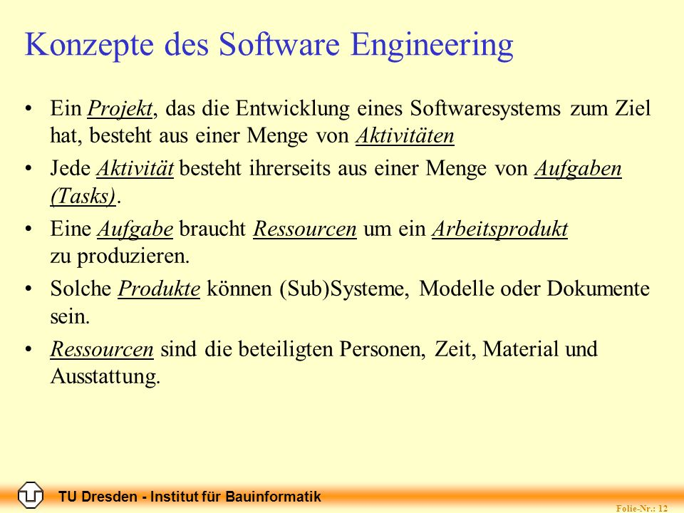 Konzepte des Software Engineering