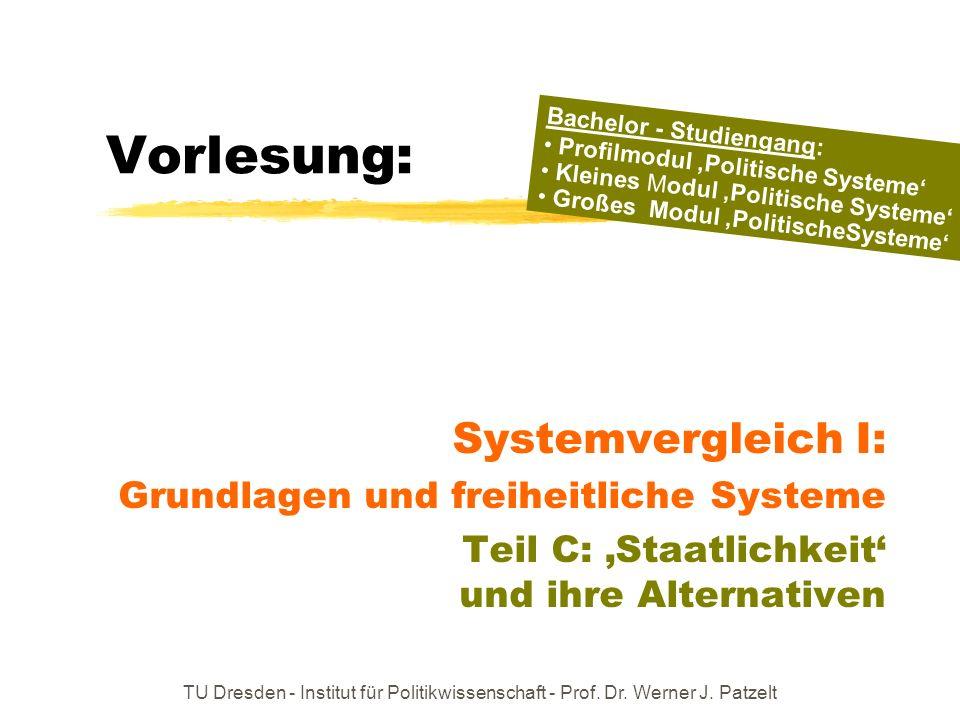 Vorlesung: Systemvergleich I: Grundlagen und freiheitliche Systeme