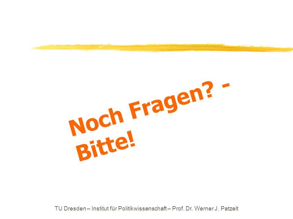 Noch Fragen - Bitte! TU Dresden – Institut für Politikwissenschaft – Prof. Dr. Werner J. Patzelt